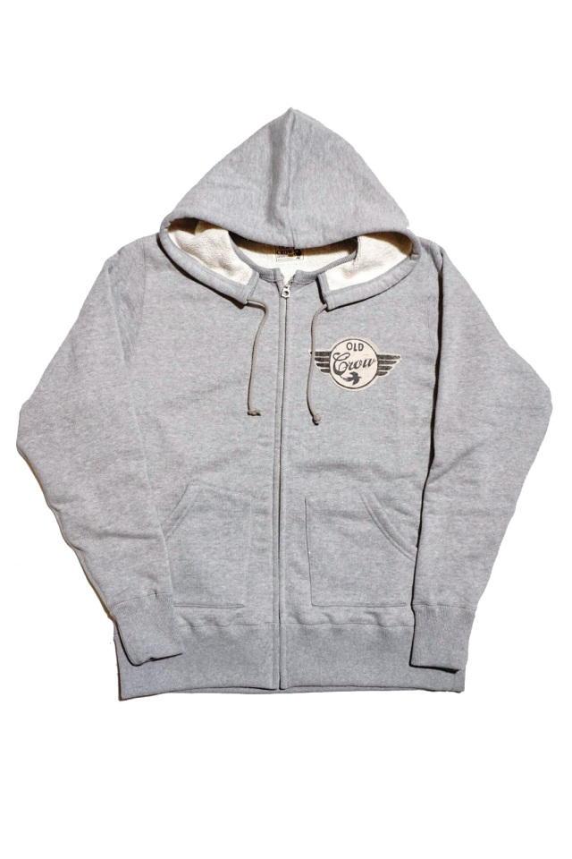 OLD CROW SPEEDWAY - SWEAT ZIP UP HOODIE GRAY