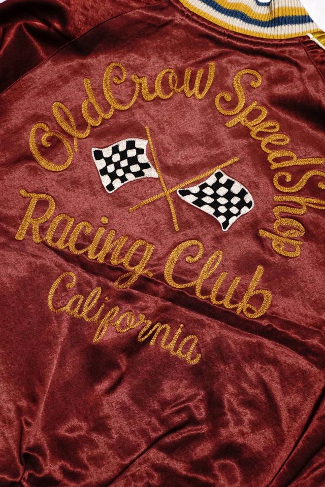 OLD CROW RACING CLUB - REVERSIBLE JACKET BURGUNDY