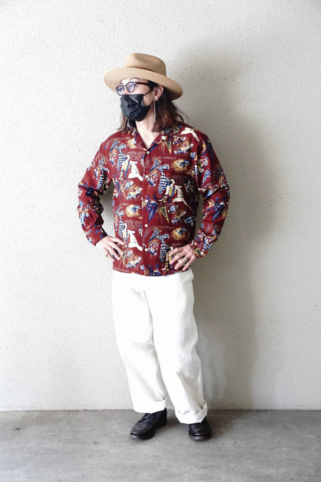 OLD CROW MOTORDROME - L/S SHIRTS RED