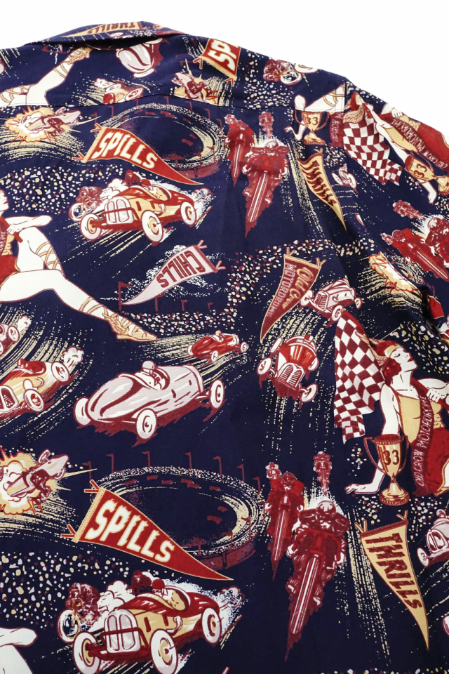 OLD CROW MOTORDROME - S/S SHIRTS NAVY