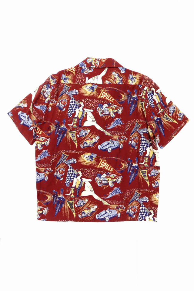 OLD CROW MOTORDROME - S/S SHIRTS RED