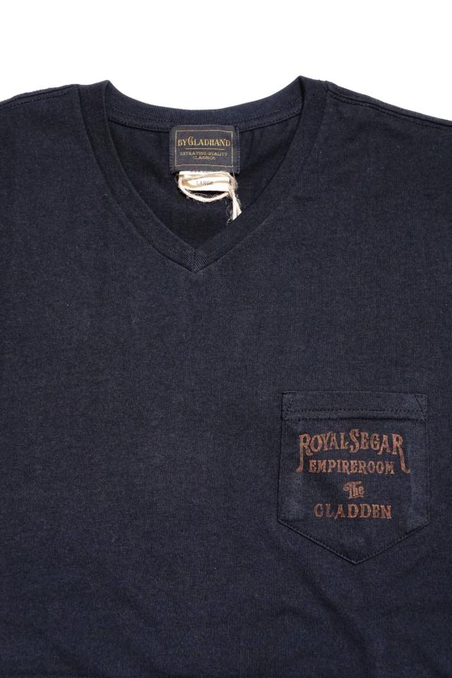 BY GLAD HAND ROYAL SEGAR - S/S V-NECK T-SHIRTS BLACK