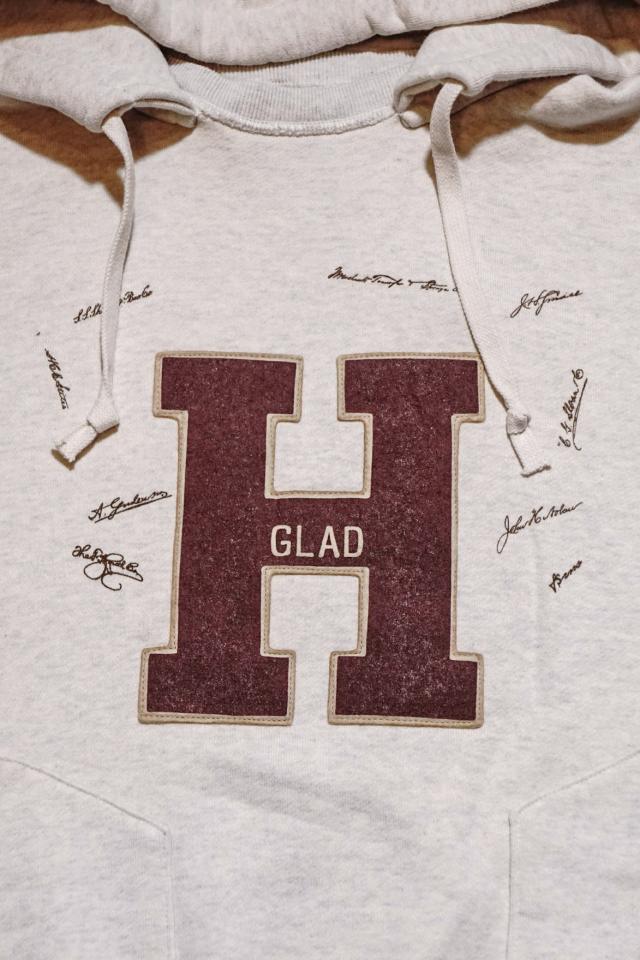 BY GLAD HAND COLLEGIATE - AFTER HOODIE BURGUNDY