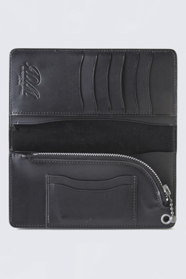 ADDICT CLOTHES JAPAN ACVM UK BRIDLE LEATHER WALLET LONG BLACK