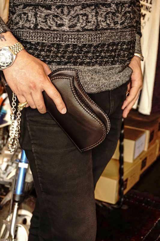 Brass Shoe Co.1 0th Anniversary Brass ×ATELIER CHERRY Leather Wallet BLACK