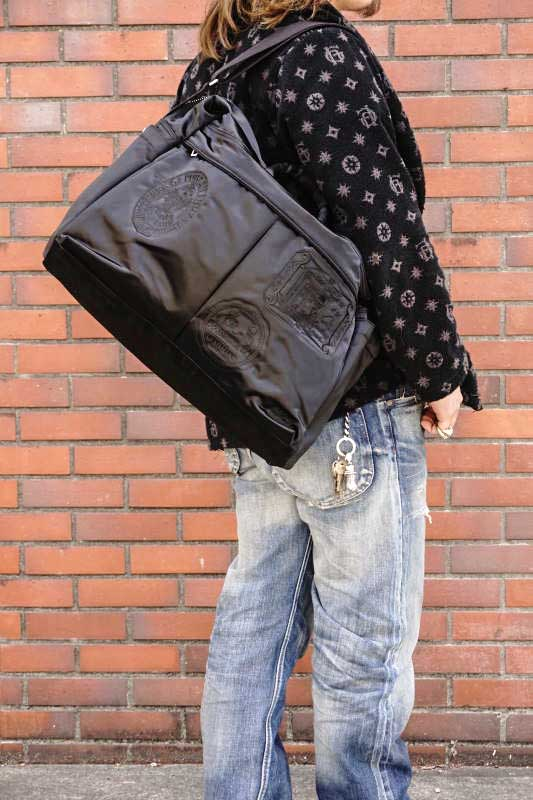 GLAD HAND×PORTER GH - FADE 2WAY BOSTON BAG BLACK
