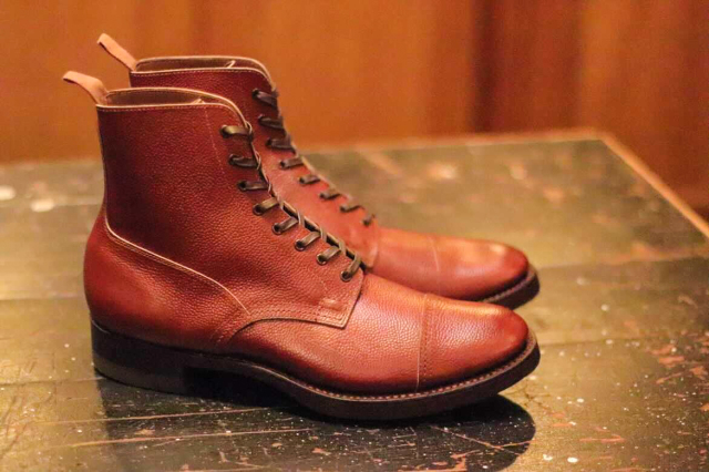 CLINCH Graham Boots Brown Embos ※B.S.W. Special Order