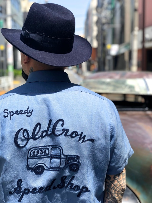 OLD CROW WHISKEY DELIVERY - S/S SHIRTS BLUE