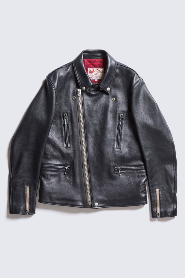 ADDICT CLOTHES JAPAN AD-02L DOUBLE RIDERS JACKET (LONG TYPE) (SHEEP)