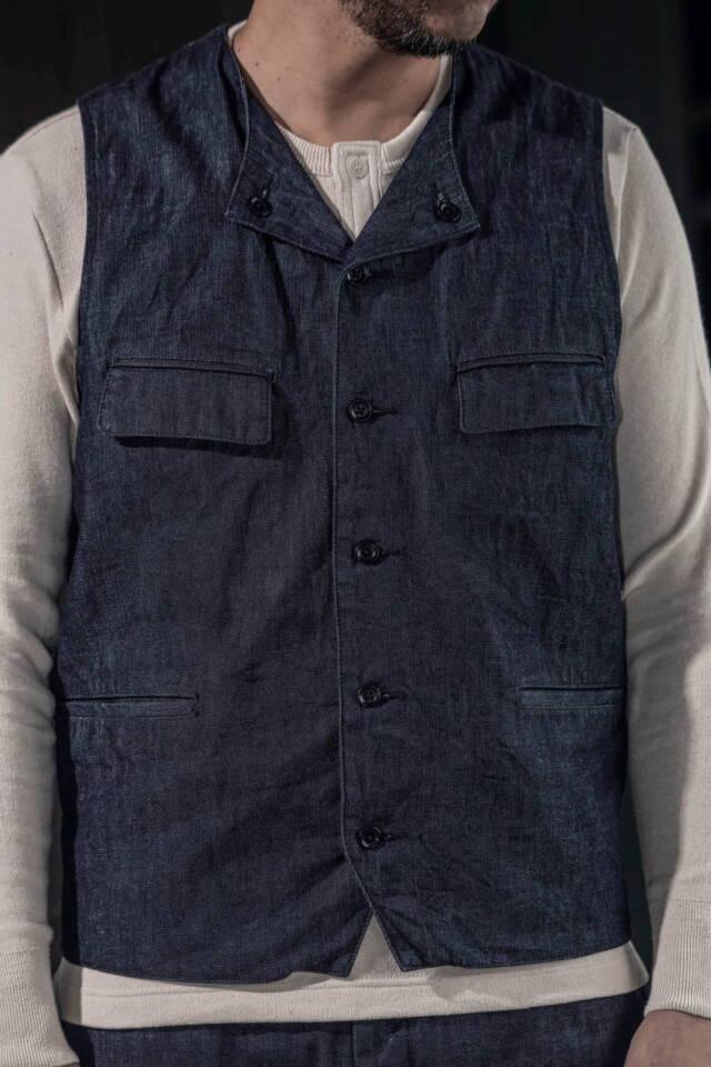 ADDICT CLOTHES JAPAN ACVM ACV-WCT01FC 4POCKETS DENIM WAISTCOAT