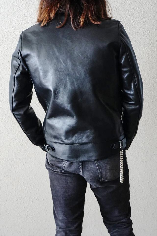 ADDICT CLOTHES JAPAN AD-01 CENTER-ZIP JACKET (HORSE) BLACK