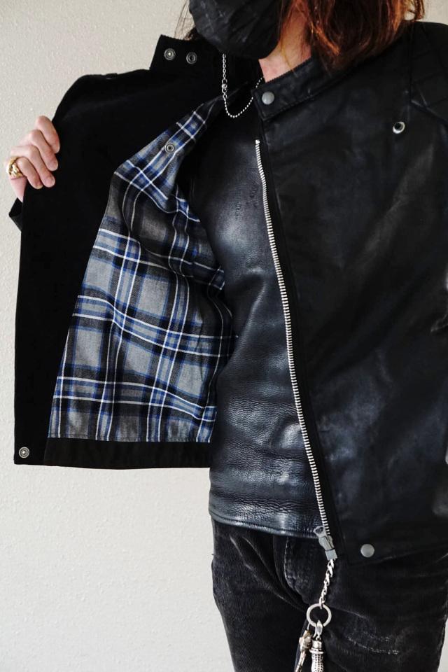 ADDICT CLOTHES JAPAN ACVM ACV-WX01 WAXED COTTON RESISTANCE JACKET BLACK