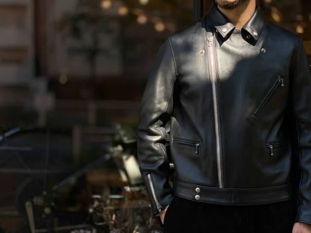 ADDICT CLOTHES JAPAN AD-03 BRITISH ASYMMETRY JACKET (SHEEP) BLACK