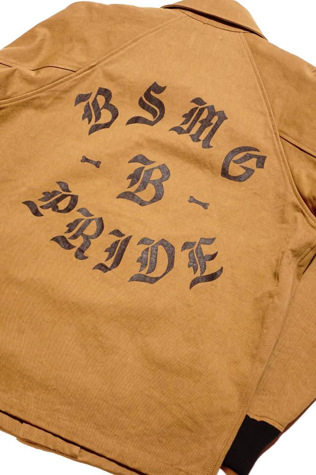 B.S.M.G. B LETTERS - JACKET BEIGE