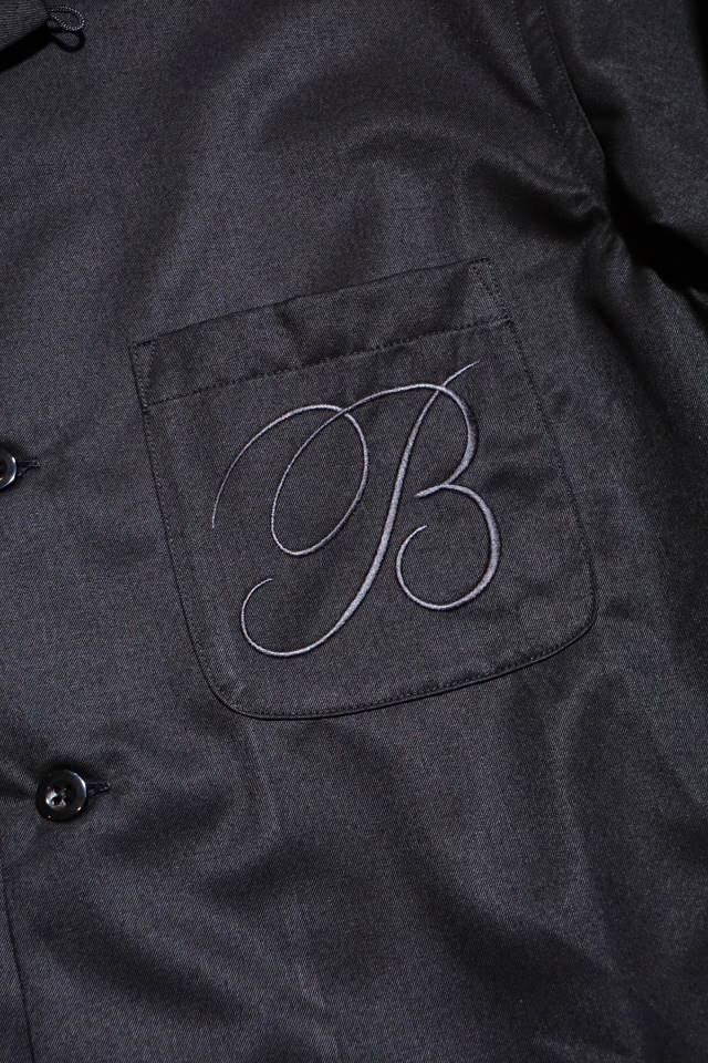 B.S.M.G. B LETTERS - L/S SHIRTS BLACK