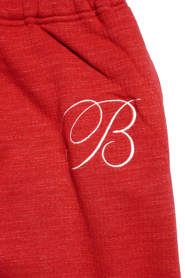 B.S.M.G. B LETTERS SWEAT - PANTS RED