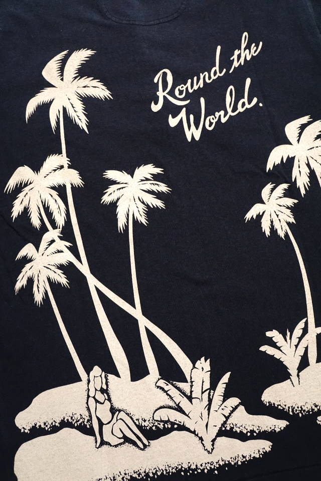 BY GLAD HAND ROUND THE WORLD - S/S HENRY NECK T-SHIRTS BLACK