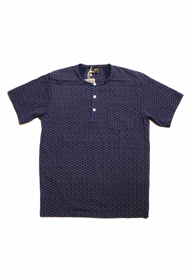 BY GLAD HAND WARDROBE - S/S HENRY NECK T-SHIRTS NAVY