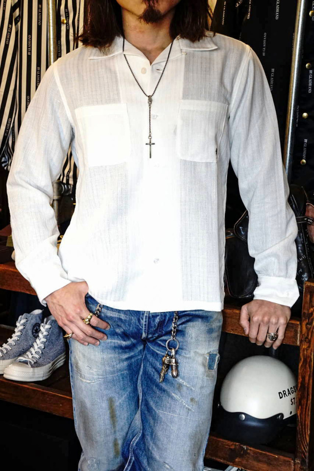 BY GLAD HAND VOYAGE - L/S SHIRTS IVORY