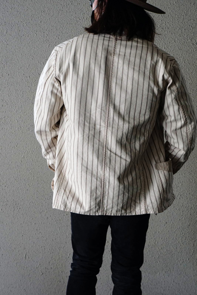 BY GLAD HAND EMPIRE GLAD - COVERALL STRIPE×CHECK