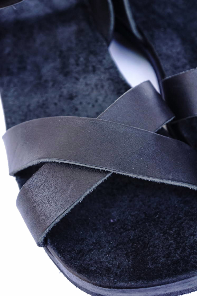 CLINCH Cross SANDAL Black Smooth