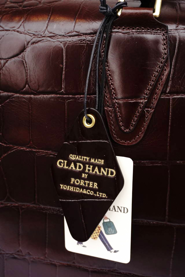 GLAD HAND×PORTER GH - BAGGAGE BOSTON BAG CROCOLIKE BROWN