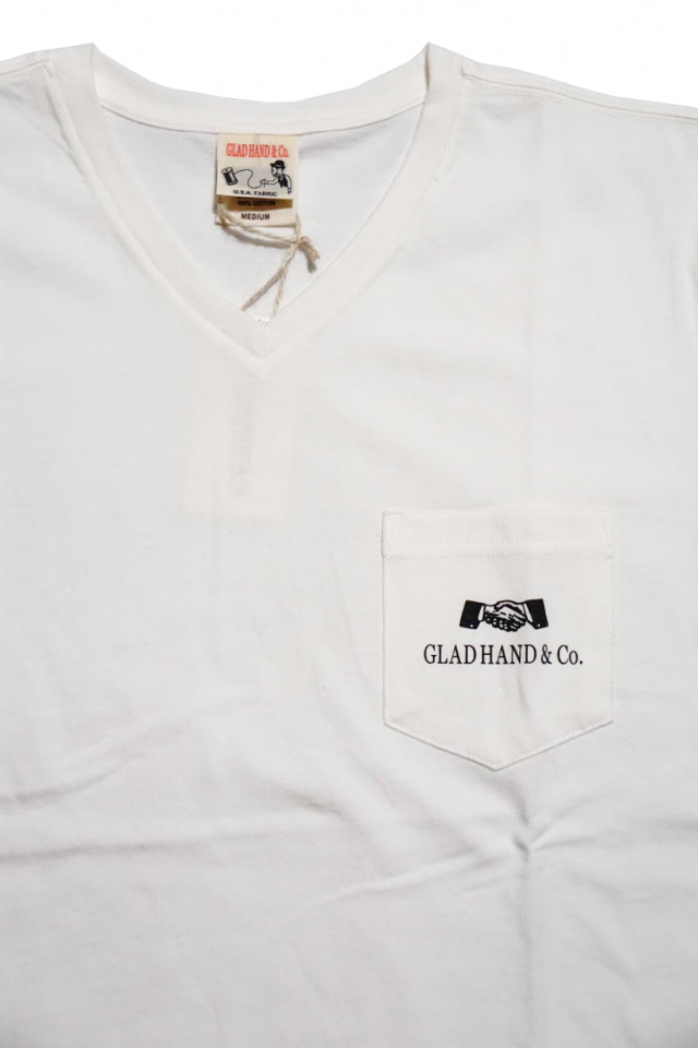 GLAD HAND GH DAILY - POCKET T-SHIRTS WHITE