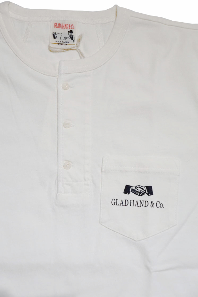 GLAD HAND GH DAILY - HENRY POCKET T-SHIRTS WHITE