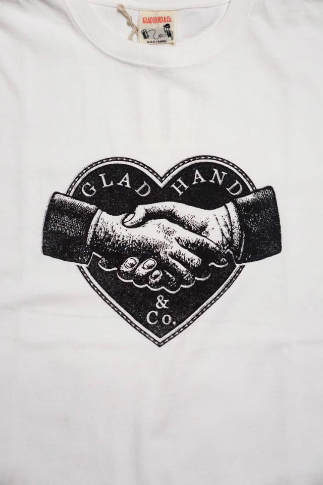 GLAD HAND ADVERTISING HEARTLAND - T-SHIRTS WHITE