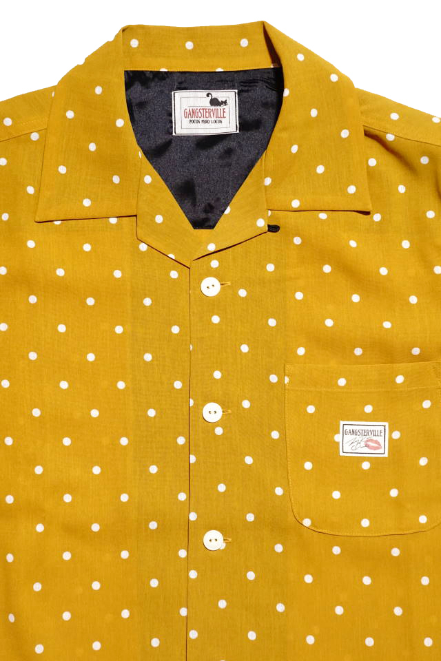 GANGSTERVILLE DIAMONDS - L/S SHIRTS MUSTARD