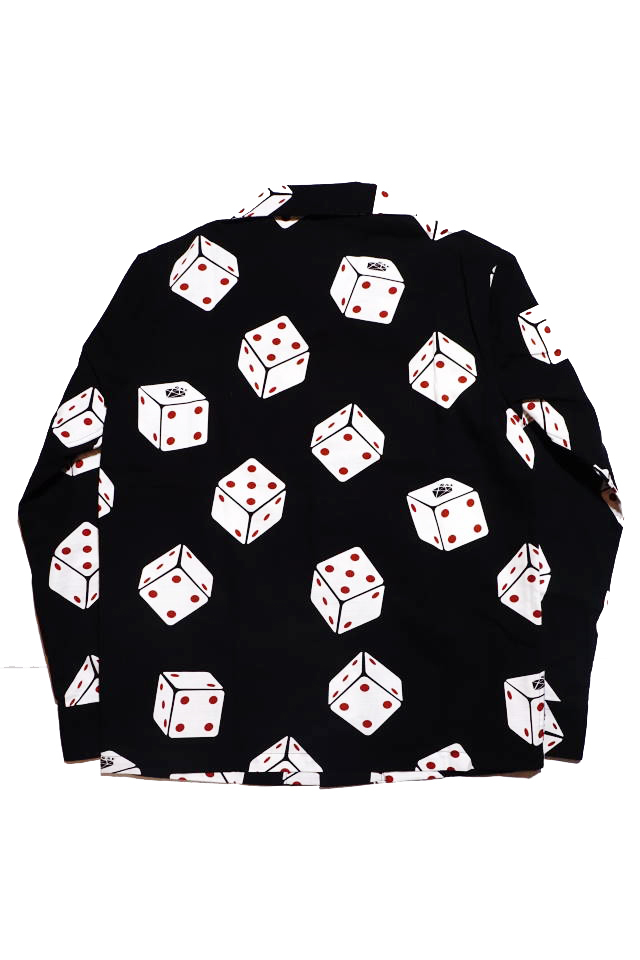 GANGSTERVILLE TUMBLING DICE - L/S SHIRTS BLACK