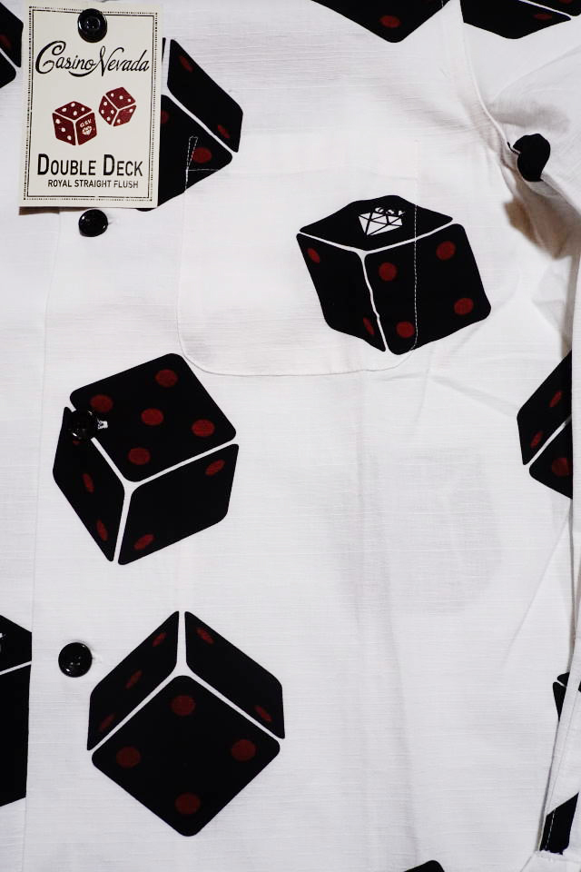 GANGSTERVILLE TUMBLING DICE - L/S SHIRTS WHITE