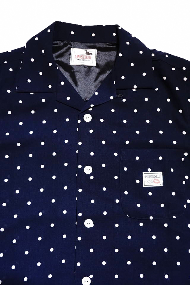 GANGSTERVILLE DIAMONDS - S/S SHIRTS NAVY