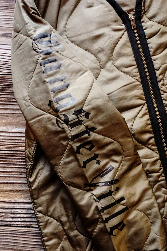 GANGSTERVILLE RAZORGANG - QUILTED JACKET KHAKI