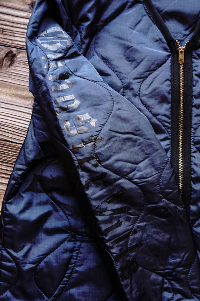 GANGSTERVILLE RAZORGANG - QUILTED JACKET NAVY