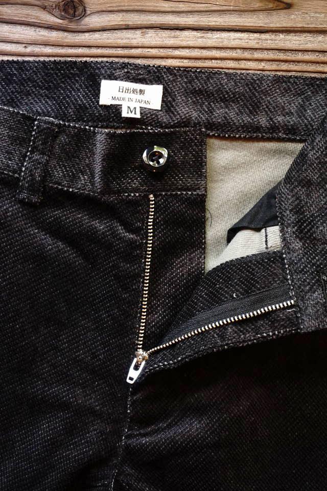 JANIS & Co. DOBBY CORD SHORTS BLACK