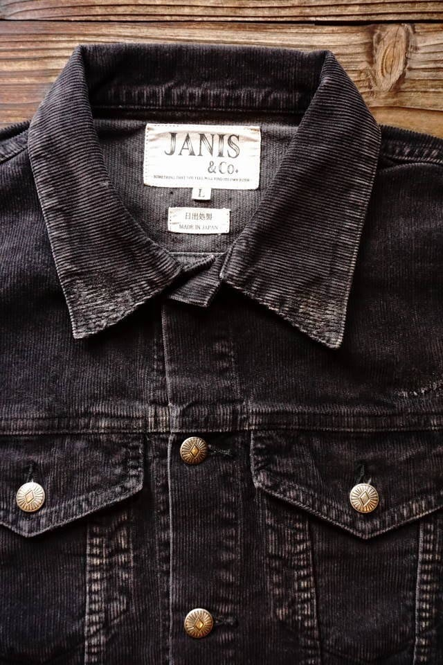 JANIS & Co. BLACK CORDUROY JACKET【VINTAGE】
