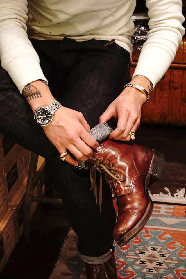 CLINCH Graham Boots Brown Embos