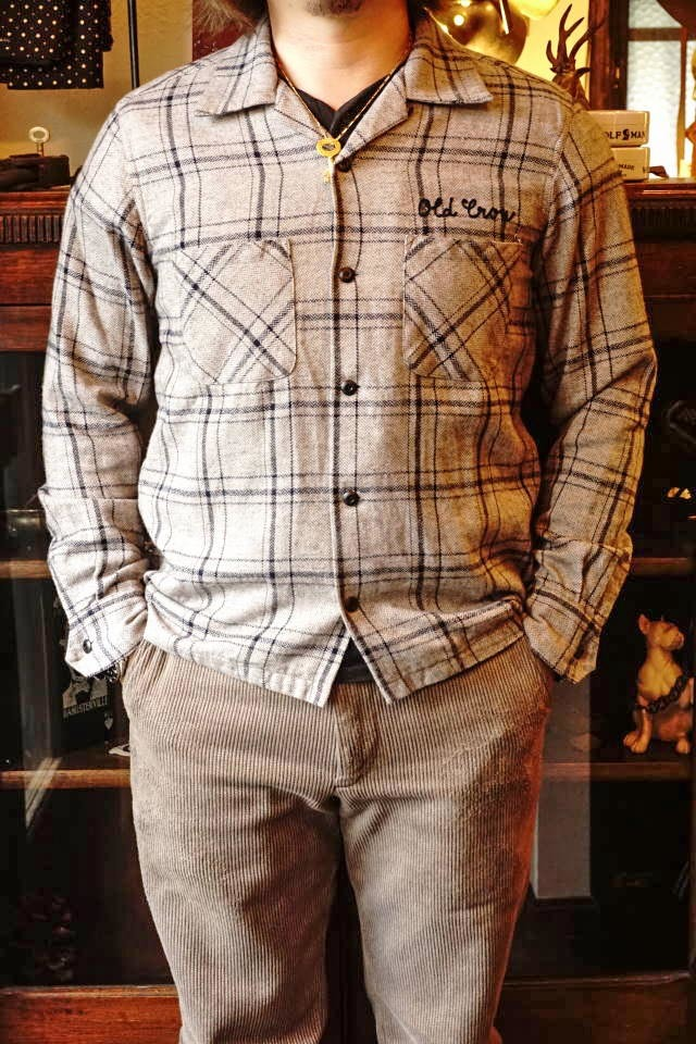 OLD CROW OLDROD CHECK - L/S SHIRTS GRAY