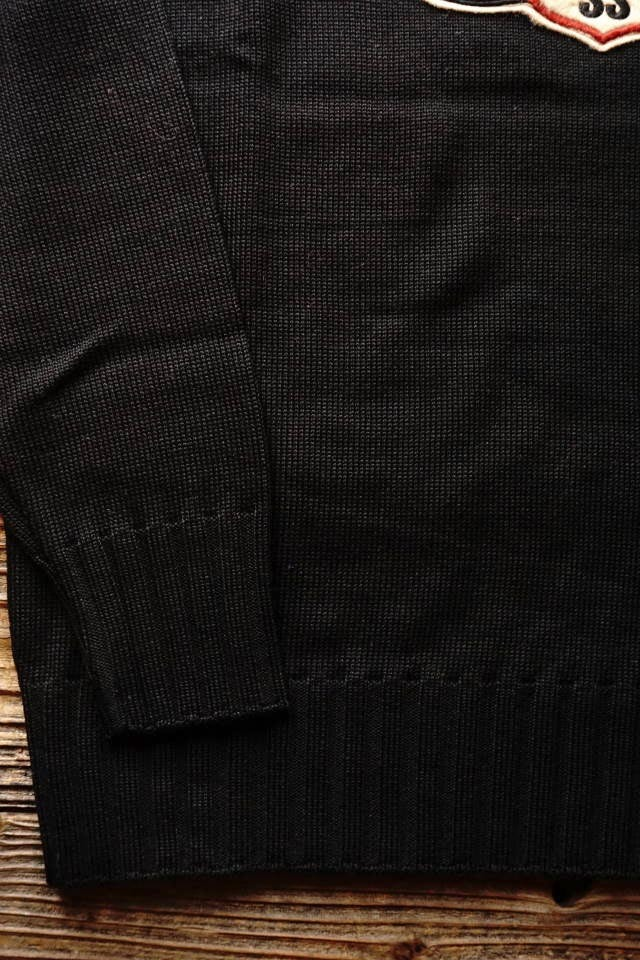 OLD CROW CROW WING - SWEATER BLACK
