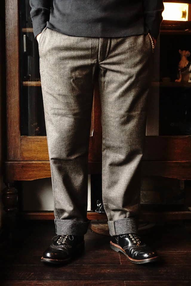 OLD CROW RODDER - WOOL PANTS D.GRAY