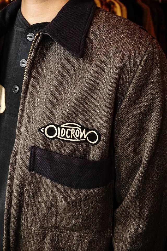 OLD CROW GAS WORKER - JACKET D.GRAY×NAVY