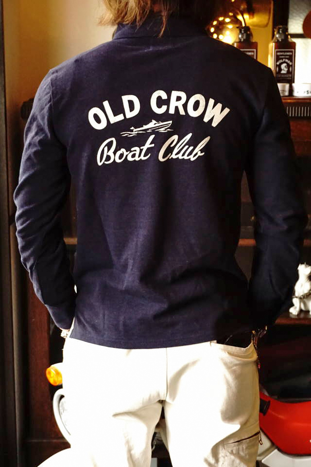 OLD CROW BOAT CLUB - L/S POLO SHIRTS NAVY