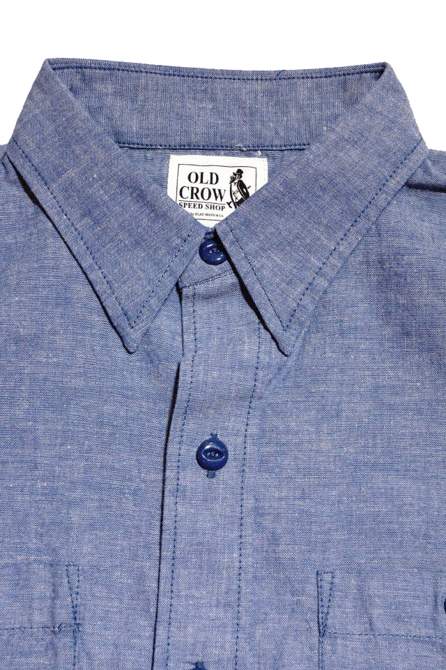 OLD CROW - L/S SHIRTS BLUE