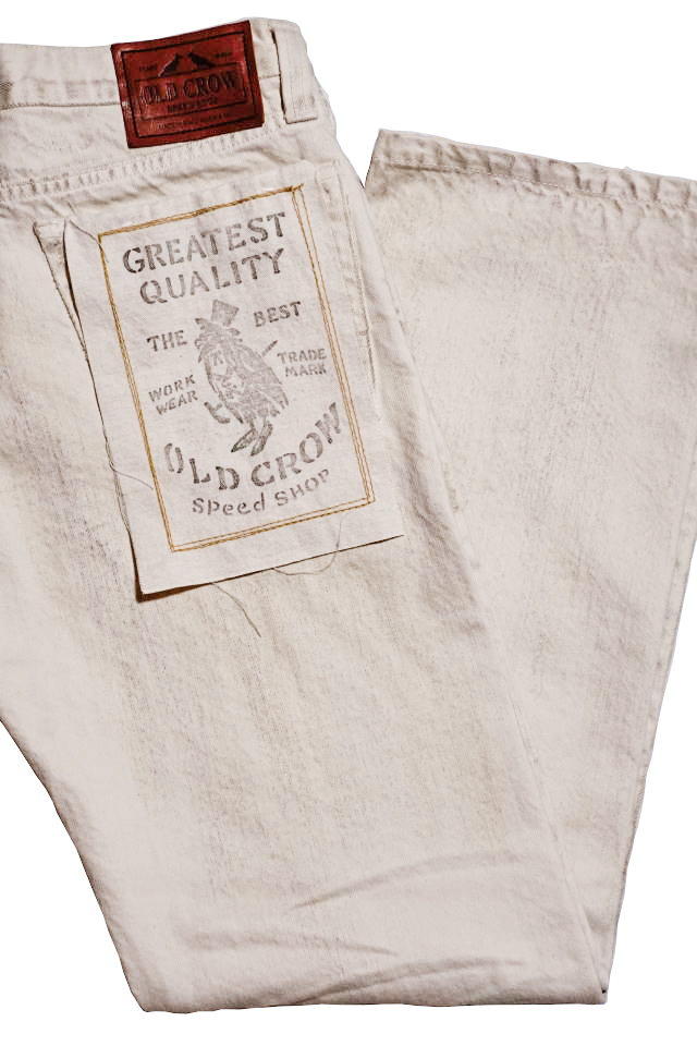 OLD CROW RODDER - PANTS IVORY