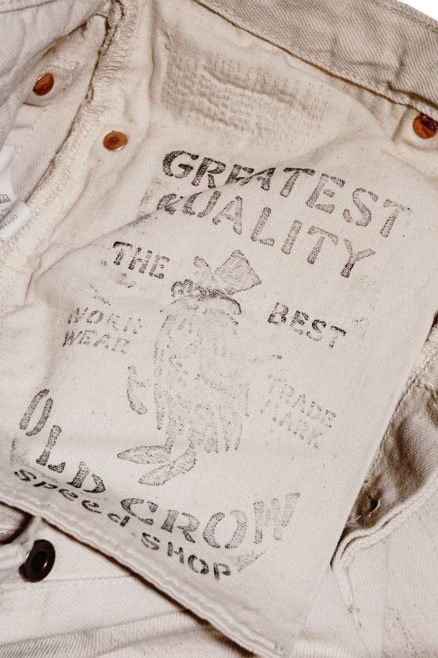 OLD CROW RODDER - PANTS IVORY