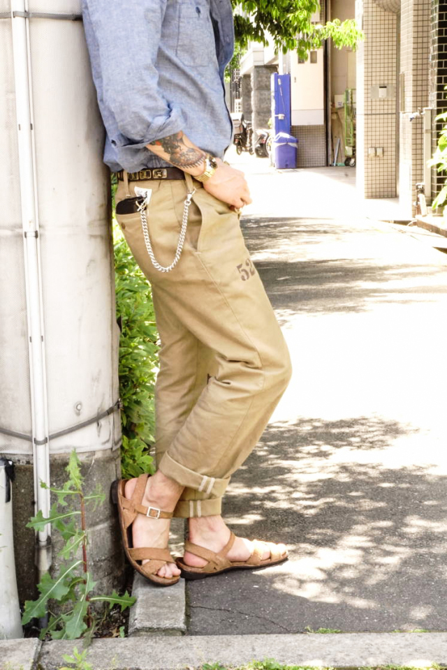 OLD CROW OLD RODDER - CHINO PANTS BEIGE